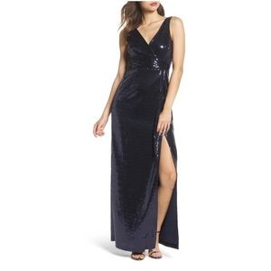 Flash Sale! New Vince Camuto navy blue sequin gown